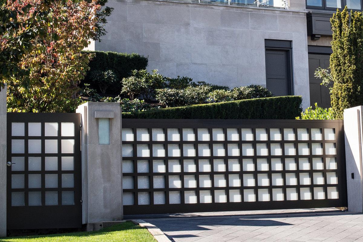 moderne poort metaal
