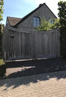 houten draaipoort