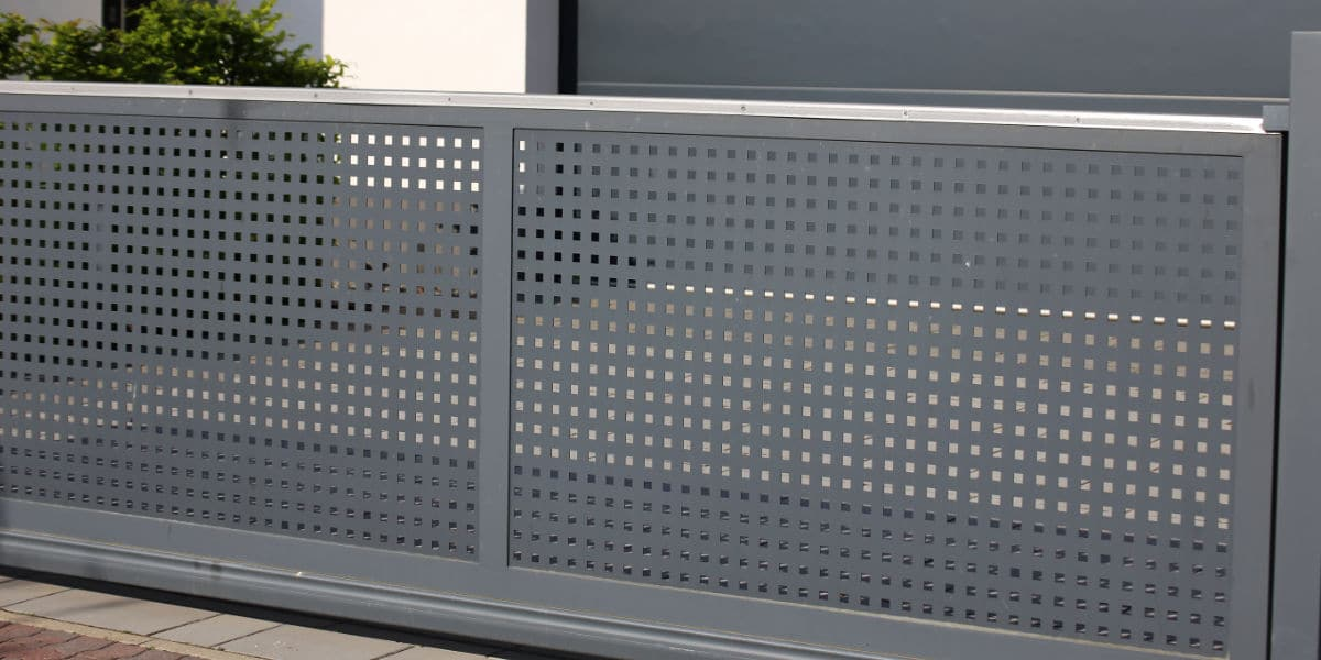 moderne aluminium schuifpoort